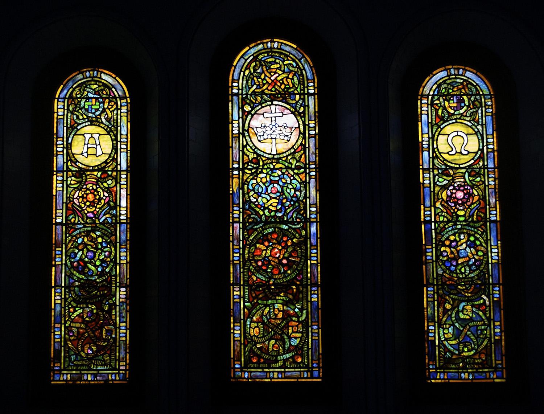 Tiffany Restoration - Trinity Episcopal Parish Hall, Lenox, Ma.