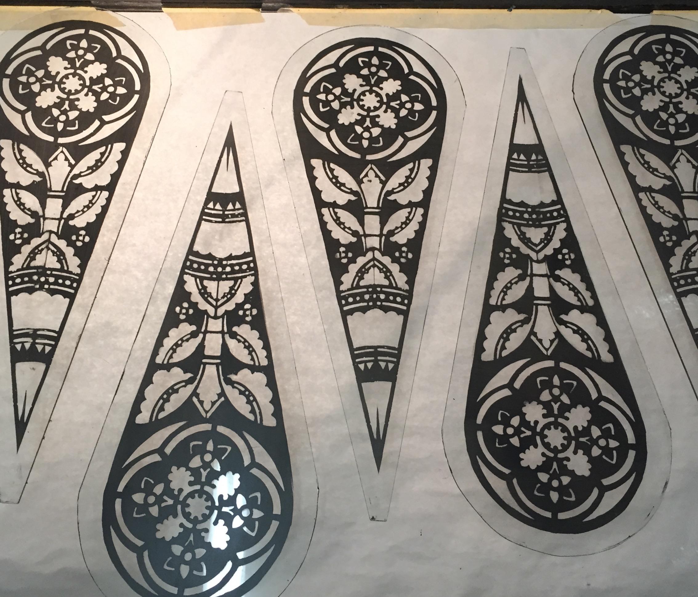Duplicate Stencil Glass