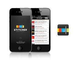 Download the free Stitcher App from the Apple or Google Play store to begin listening to podcasts.