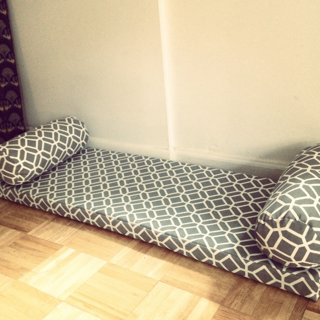 Custom Bench Cushion with Pillows