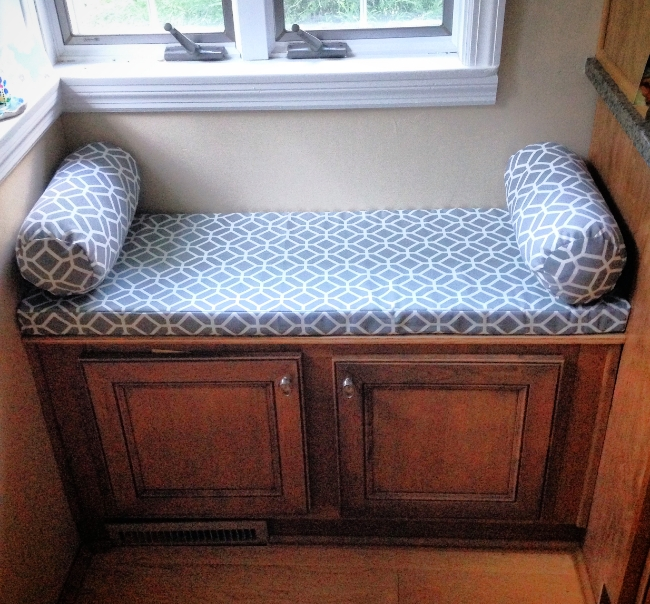 Custom Bench Seat w/ Pillows