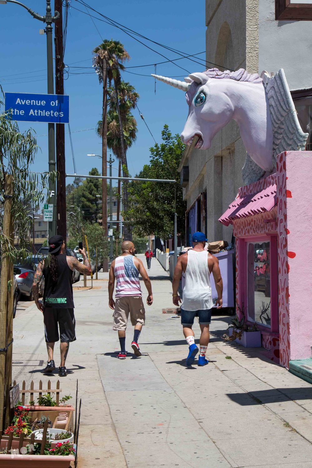 Avenue of the Athletes & the Unicorn Wacky Wacko Storefront