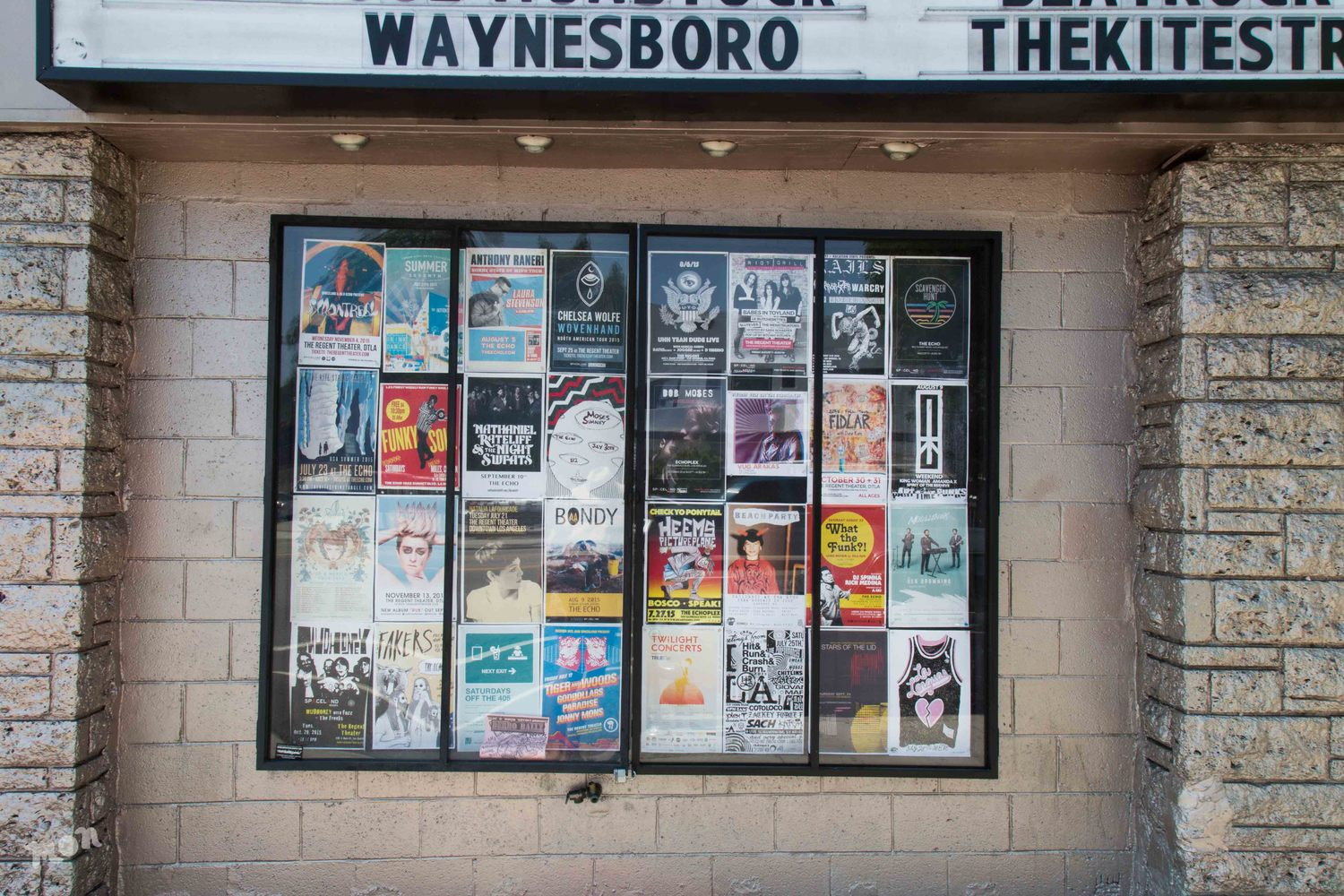 Fliers outside of The Echo