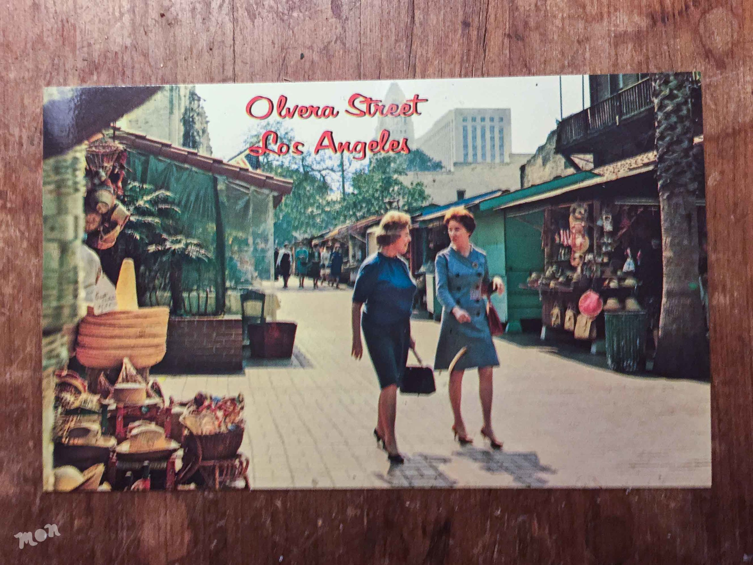 Postcard sold on Olvera St
