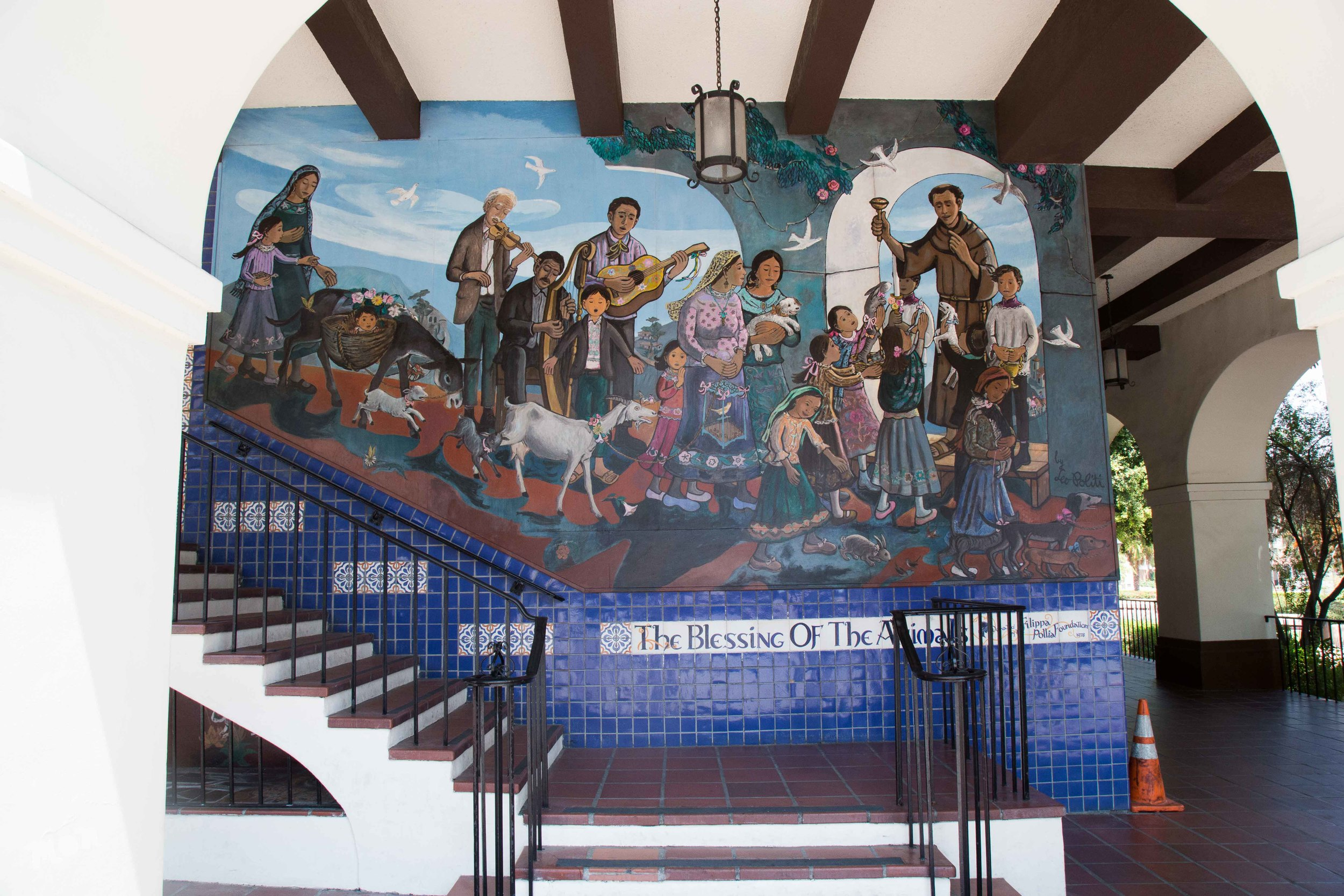 Leo Politi's 'Blessing Of The Animals' Mural (1978)