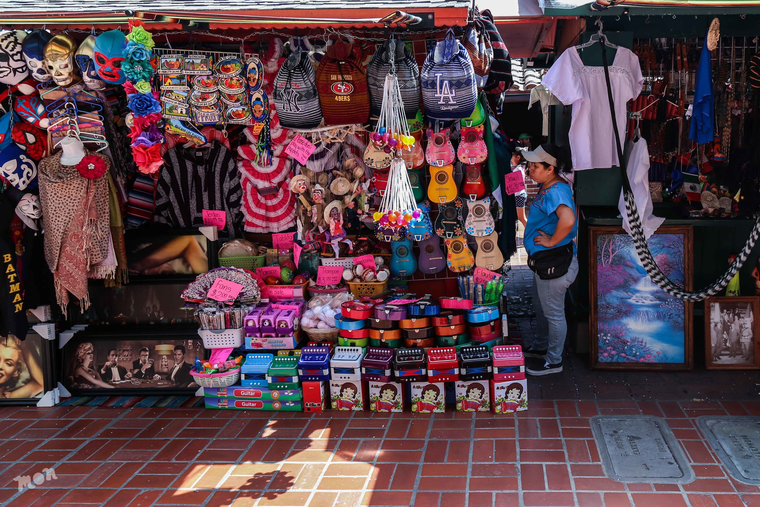 Vendor on Olvera St