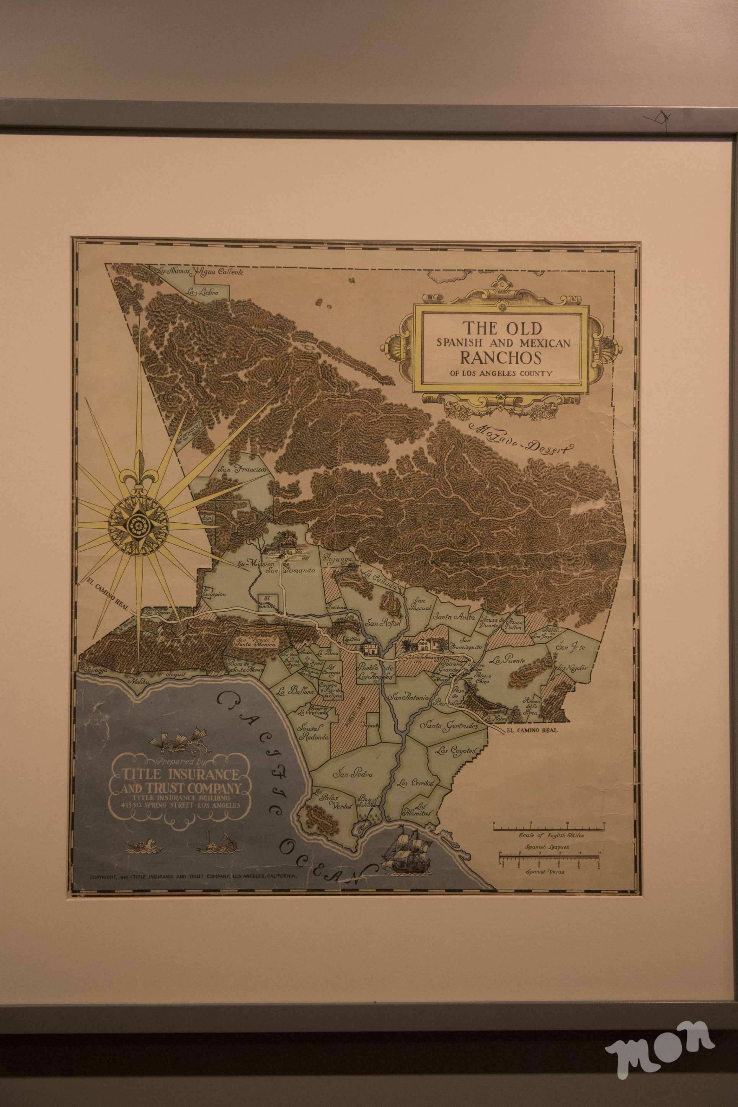 Rancho Map of Southern California