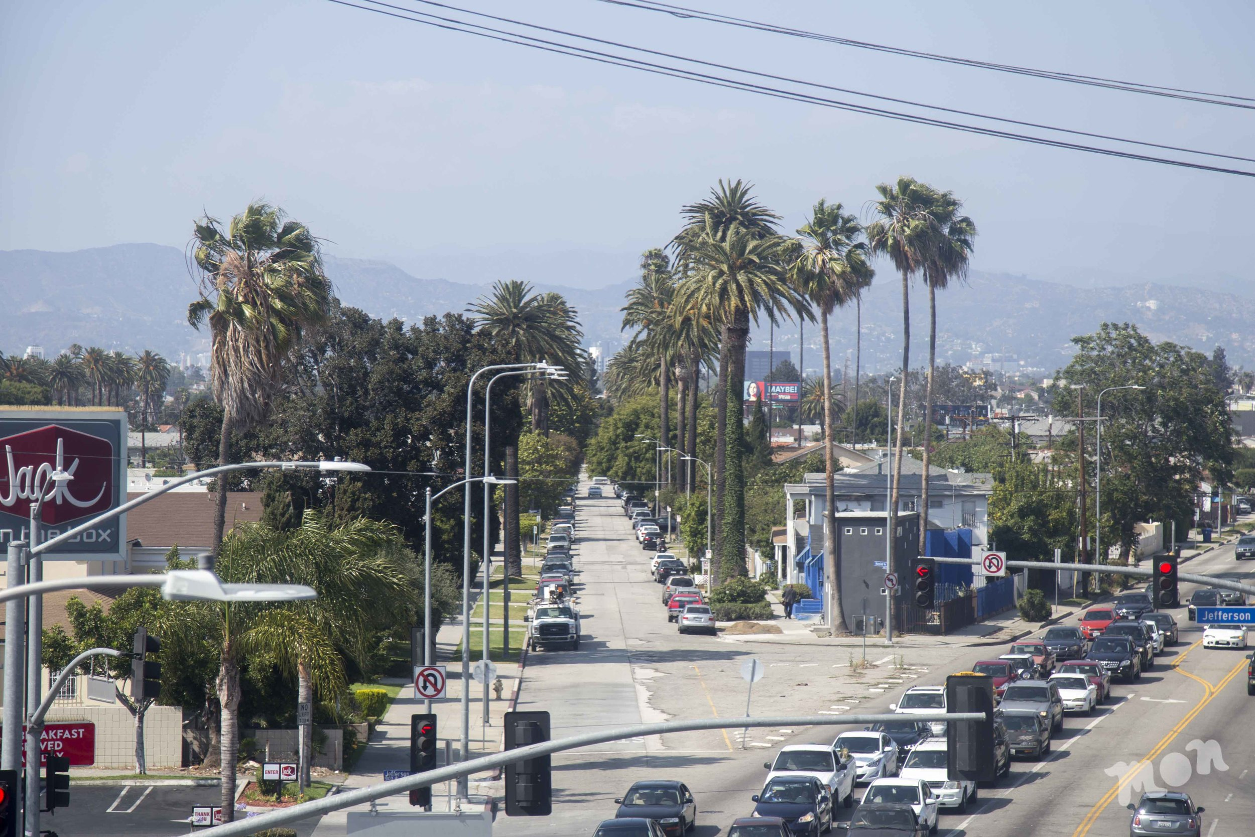 View from the La Cienega station off the Expo Line.