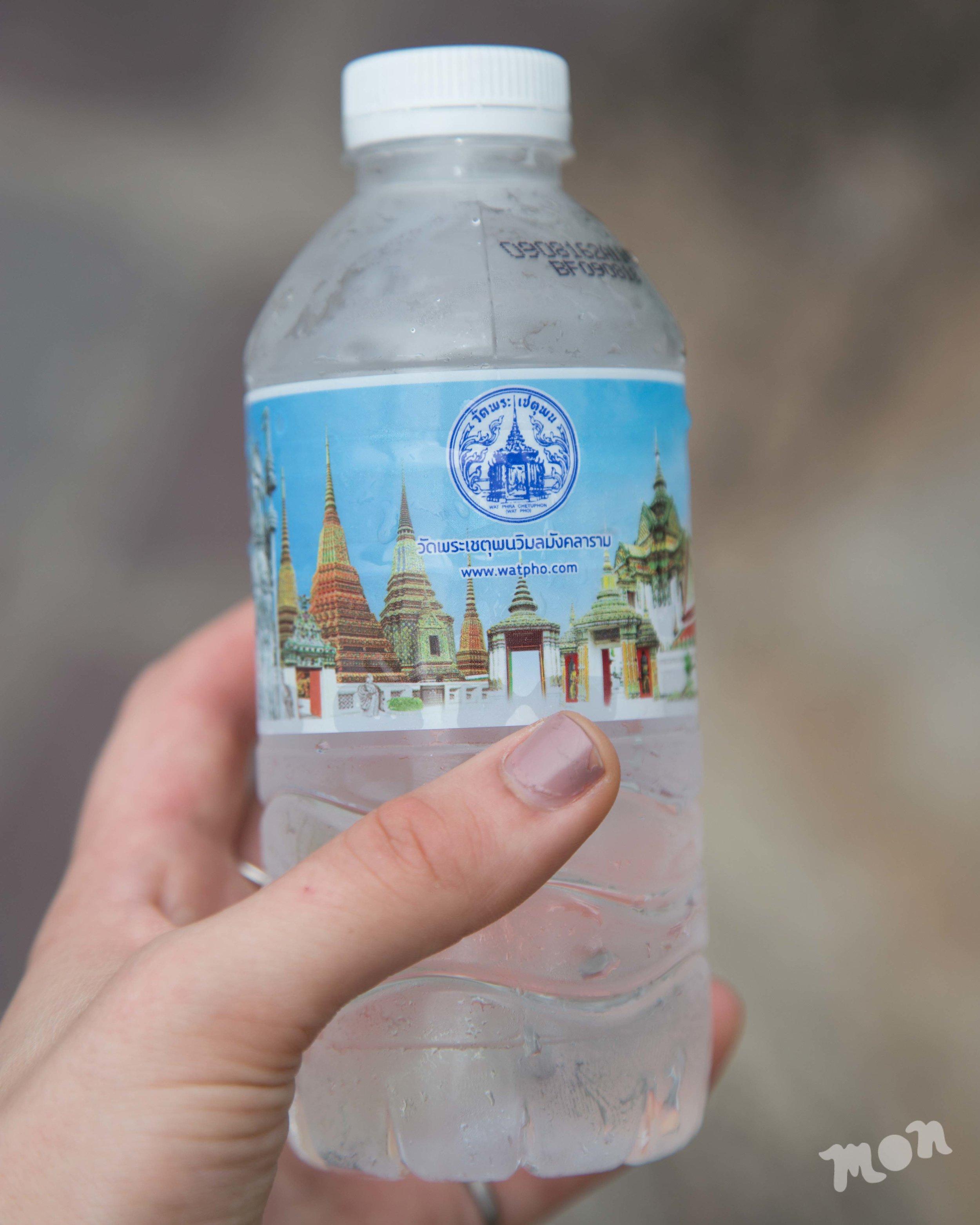 Complimentary Wat Pho Water Bottle