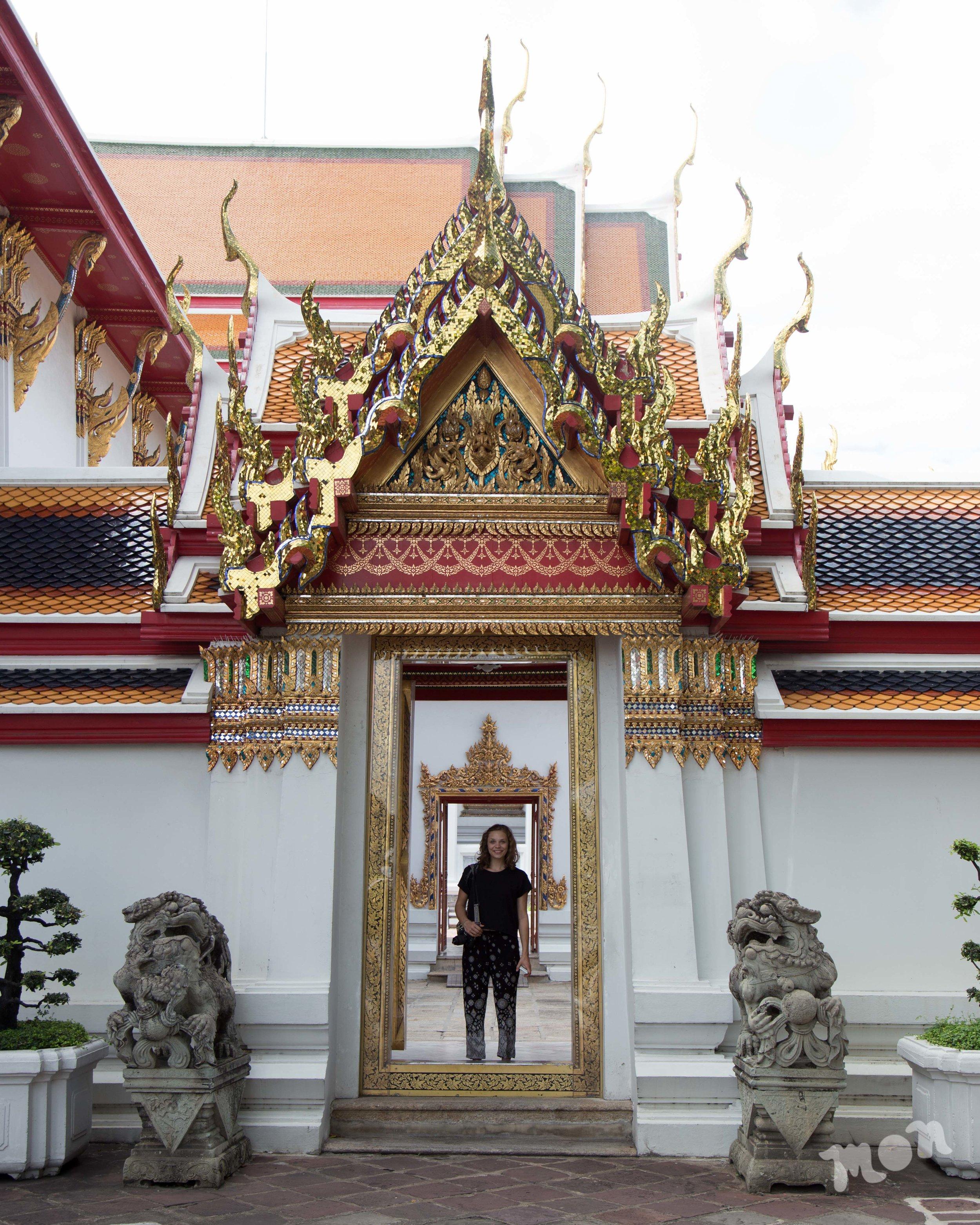 Ab in a Doorway at Wat Pho