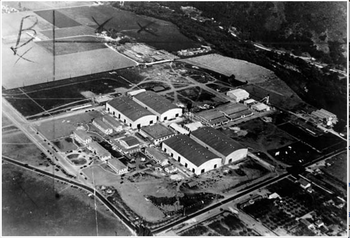 Areial view of Warner Brother's Studios in 1936