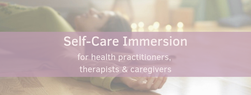 """Self-Care Immersion :: Mini-retreat for health practitioners, therapists, and caregivers  Sunday, November 3rd, 11am-3pm  $105 Early Bird (before 10/27) / $125 Regular Price   Registration  is open with early-bird discount!  Recharge with gentle yoga and learn intentional self-care techniques for resiliency and preventing burnout.   As a health practitioner, therapist, or caregiver do you often use your best energy to serve others first and then feel like you have little left for yourself or your family?   Whether you are suffering from burnout, feeling overwhelmed, or just experiencing fatigue, you could benefit from some intentional self-care. This retreat creates a supportive space for you to recharge, so that you can """"pour from a full cup"""".  We will focus on nurturing  Body, Mind, & Heart  and you will leave feeling more deeply connected to your mission of personal wellness and the service you provide through your work.  The day will include a gentle yoga class and conversation about strategies for preventing and treating caregiver burnout. The following strategies will be covered.   -Cultivating self-compassion    -Boundary & Clearing Rituals and how to create them    -Energetic Hygiene for your work environment & body    -Breathing techniques for balancing your energy levels    -Ayurvedic practices and daily routines for optimal well being   Includes delicious and nourishing lunch by PURE FOOD MIND & BODY and special gift.  Led by Sara Worden RYT"""