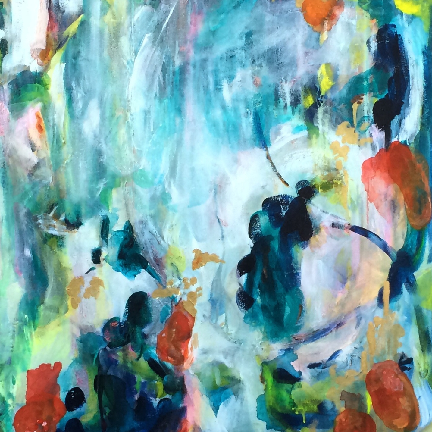 """Sojourn 30"""" x 30"""" acrylic on canvas SOLD"""