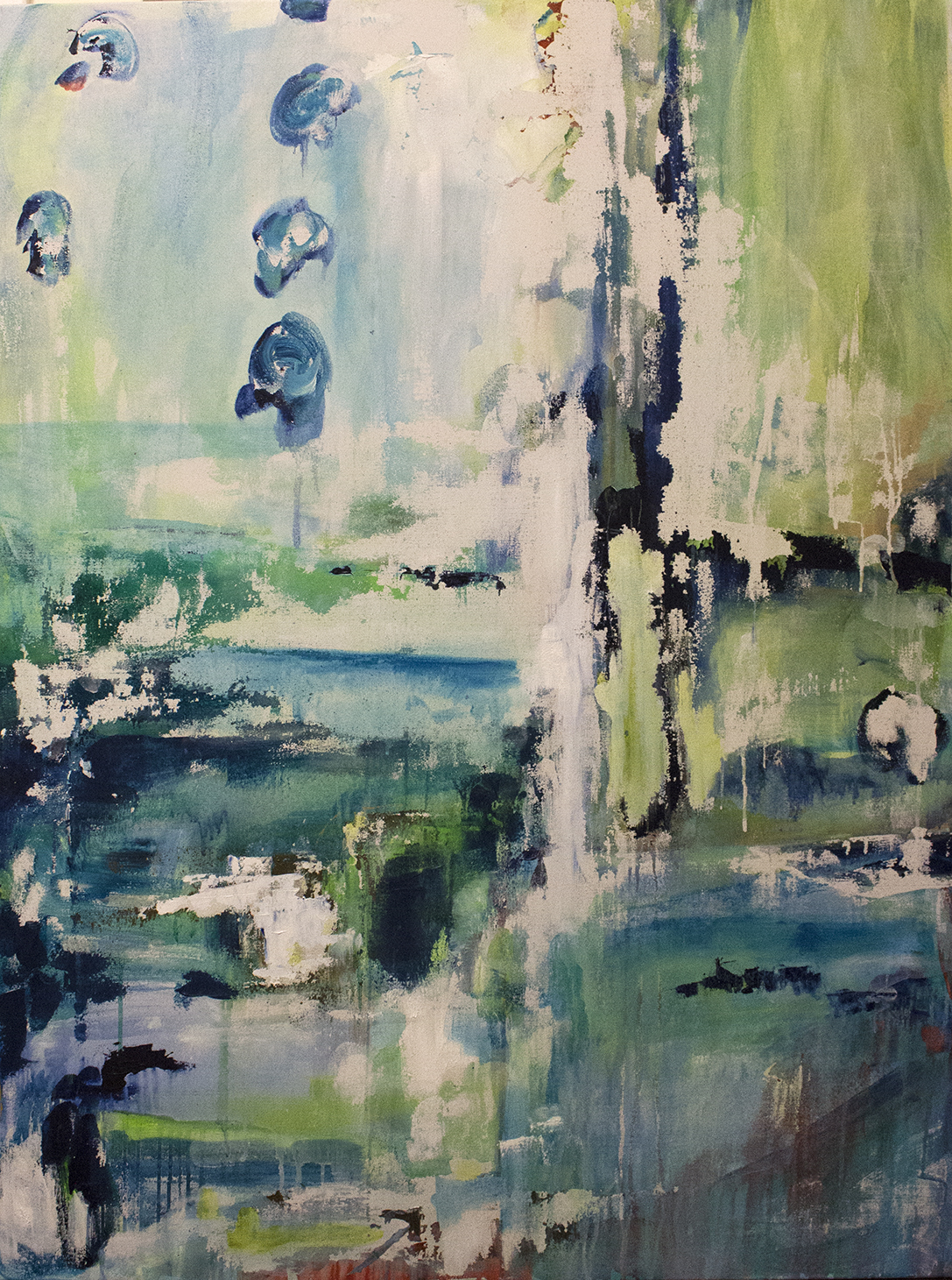 """Untitled 36"""" x 48"""" acrylic on canvas SOLD"""