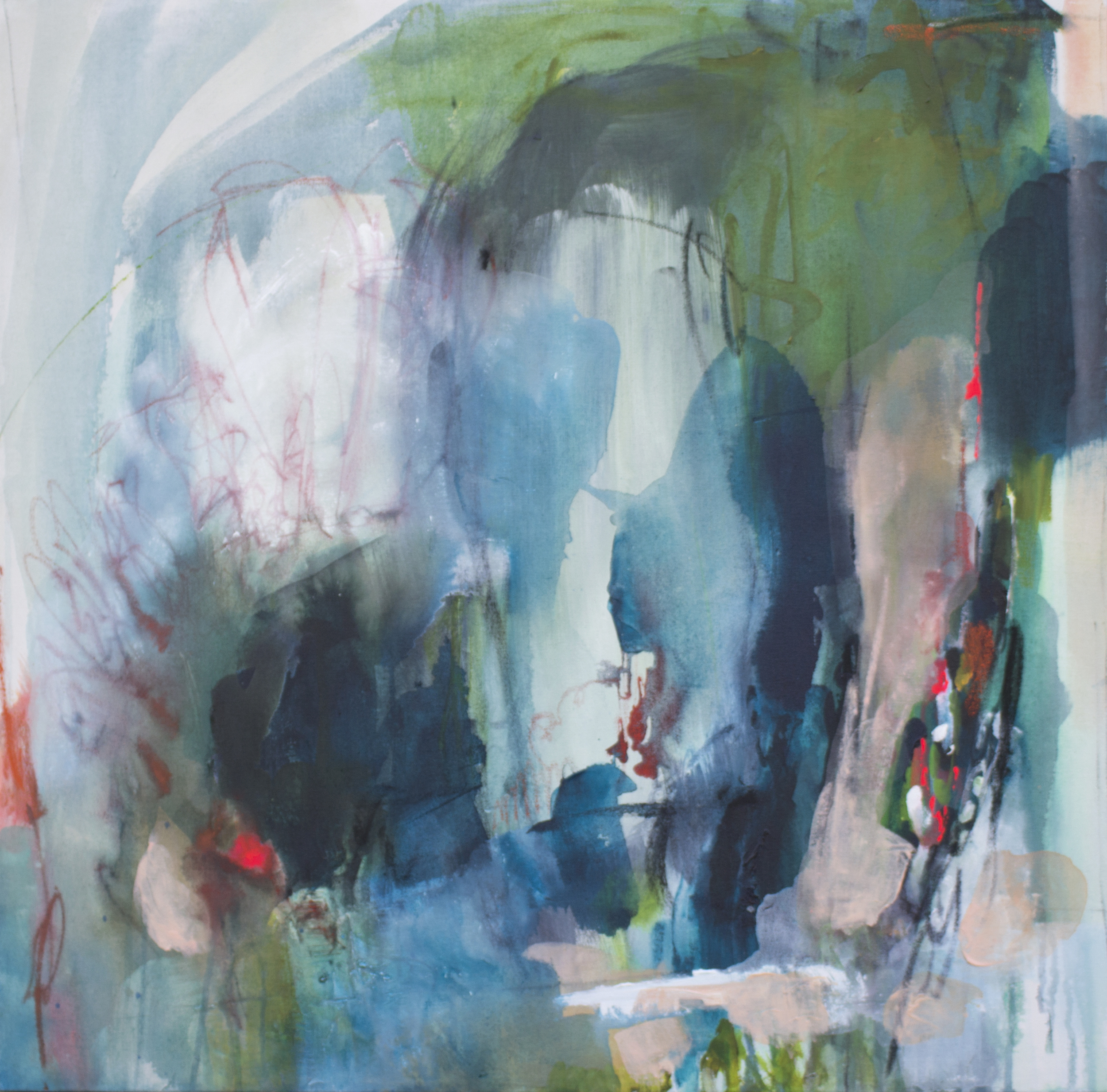 Expletive 27 in. x 29 in. acrylic, pastel, charcoal on canvas