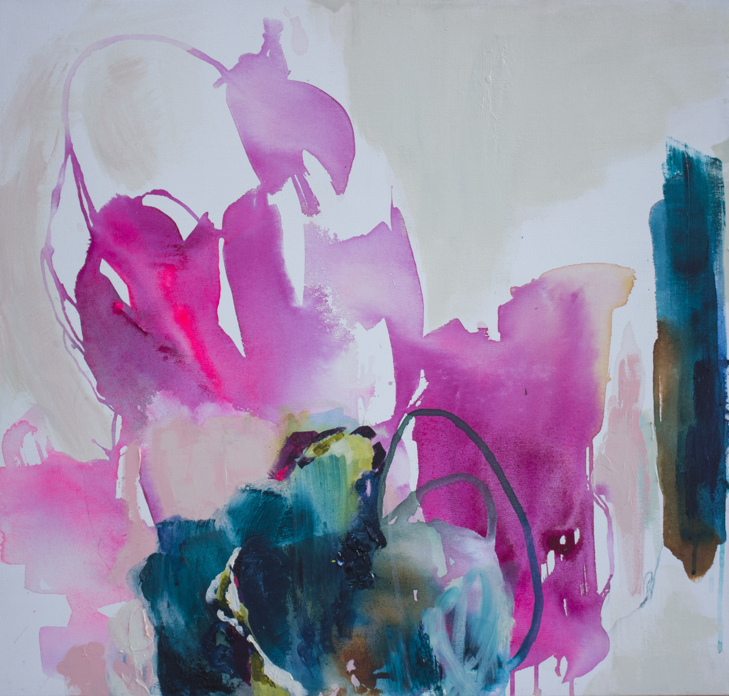 Tryst 27 in. x 29 in. acrylic on canvas
