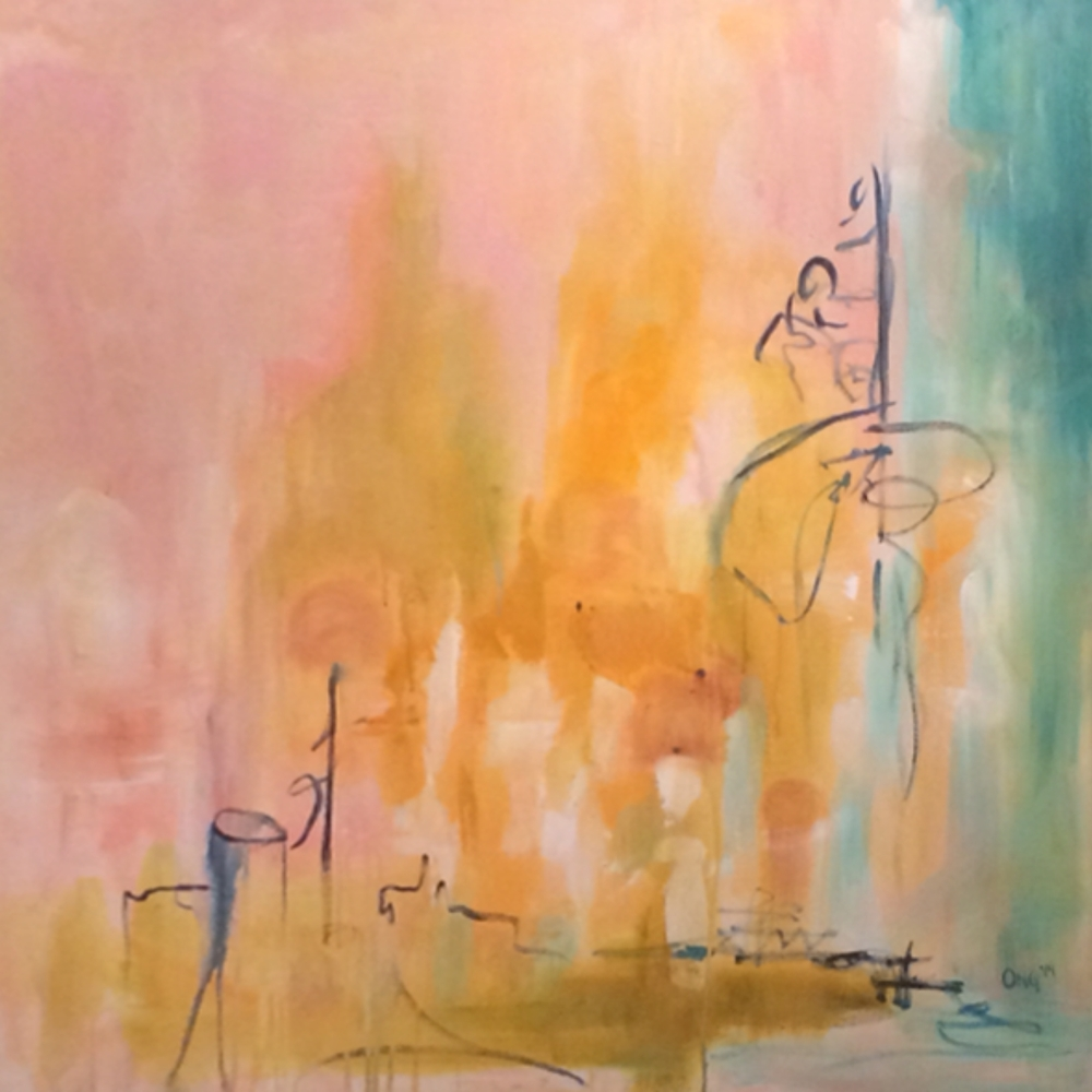 """Opal 48"""" in. x 48 in. acrylic on canvas   sold"""
