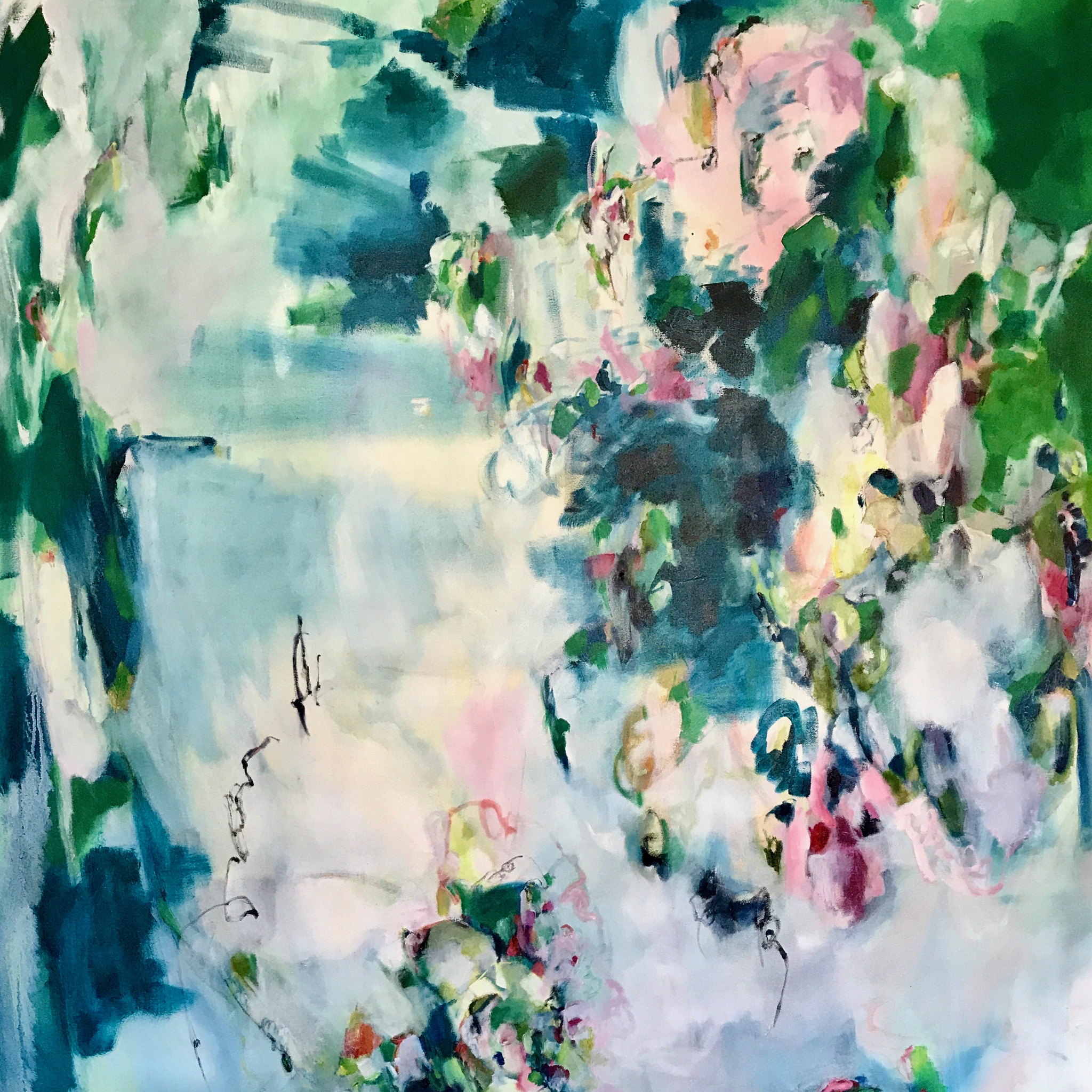 BY YOUR SIDE 48 in. x 48 in. oil on canvas  SOLD