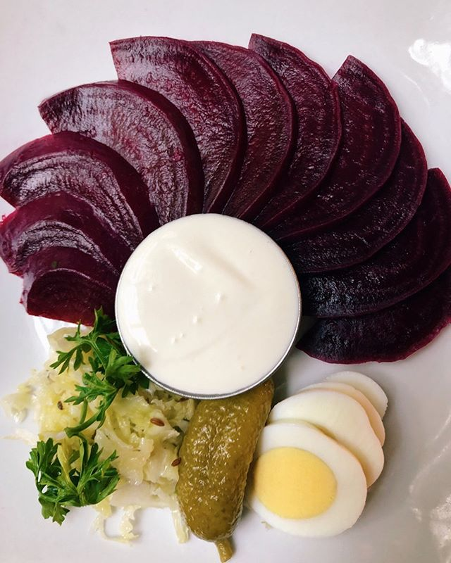 We got the beets! When you want something on the lighter side.  #germanfood  #beetsalad  #gutenappetit