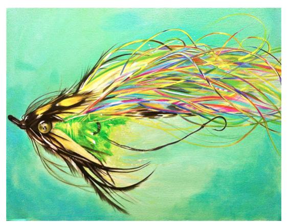 """""""Rainbow Enticer"""" Oil on Canvas"""