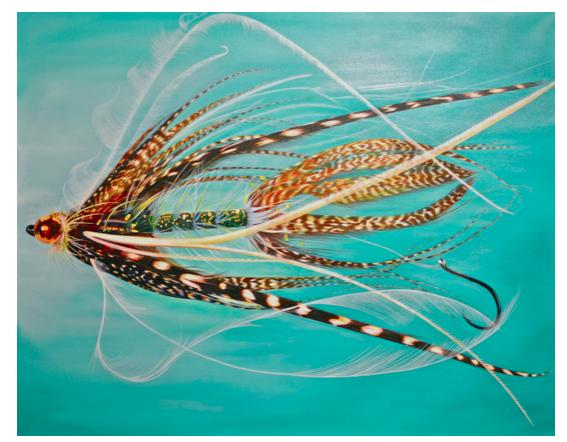 """Senyo Stinger"" Oil on Canvas"