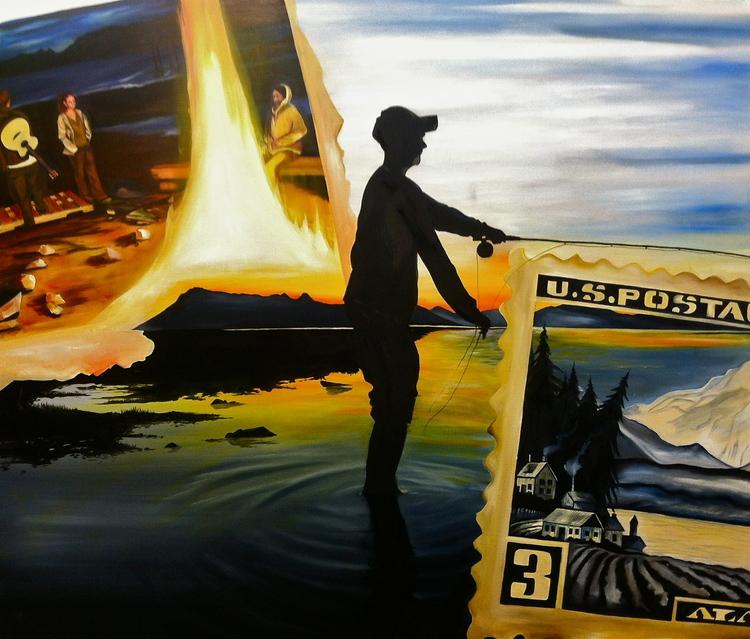"""Alaska""  Oil on Canvas"