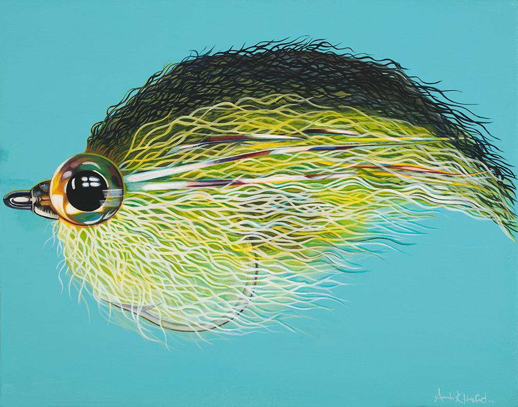"""Bass Streamer"" Oil on Canvas"