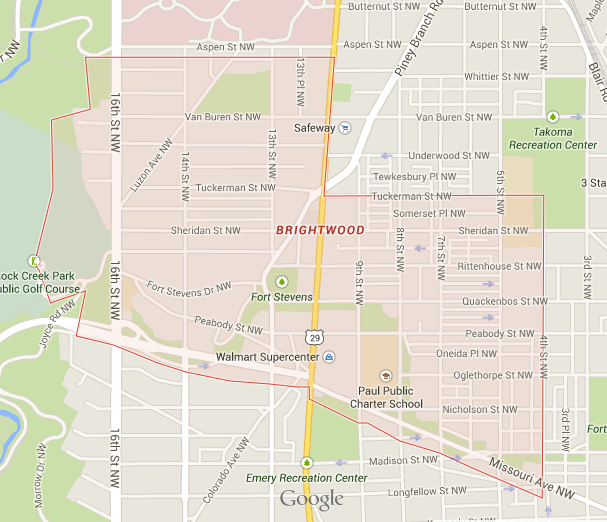 FWIW, here's Brightwood.