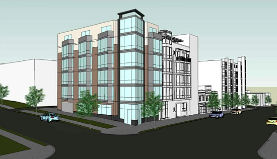 Rendering of project planned for 3831 Georgia Avenue