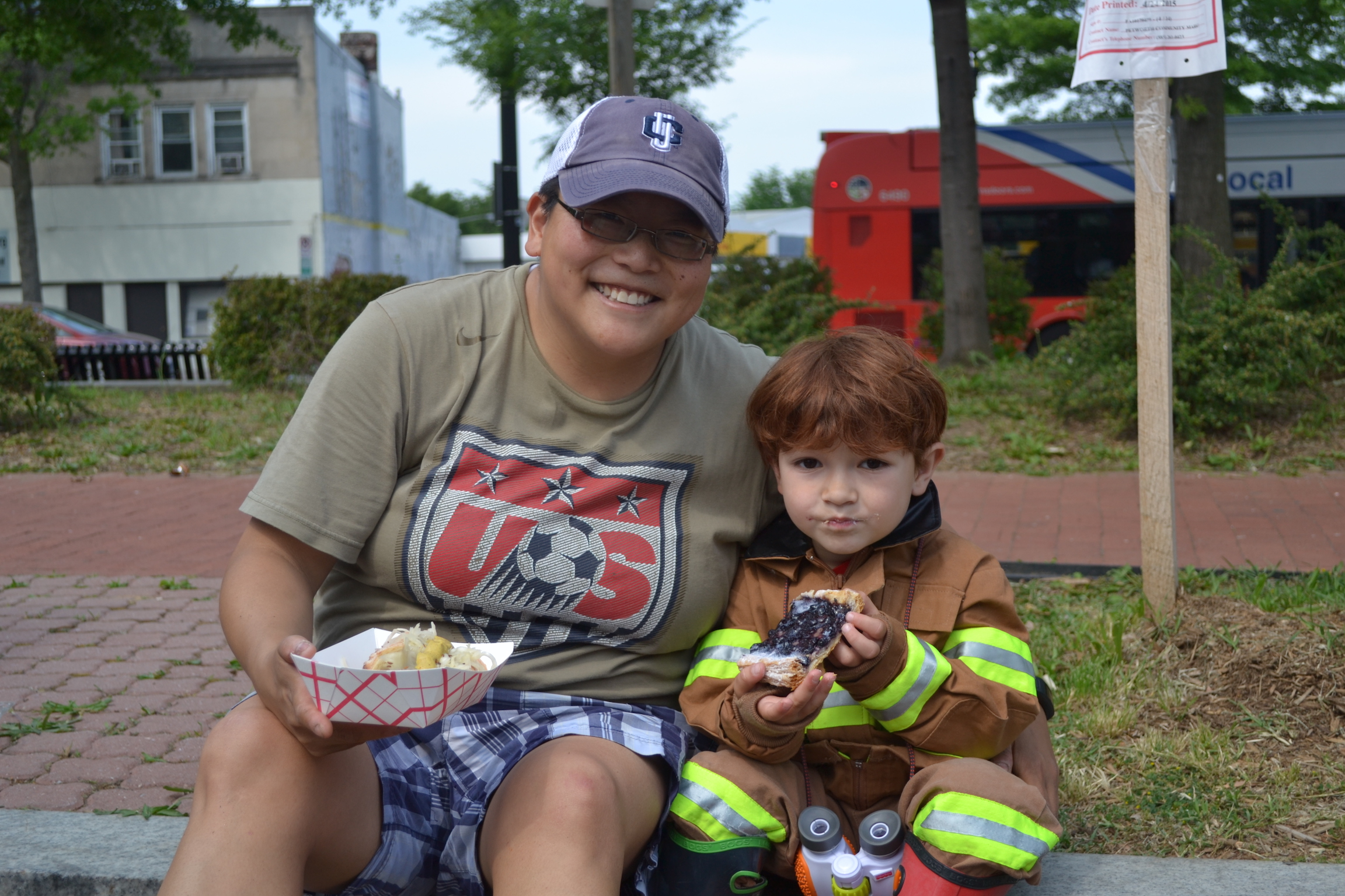 Sarah and Henry (our local fireman).