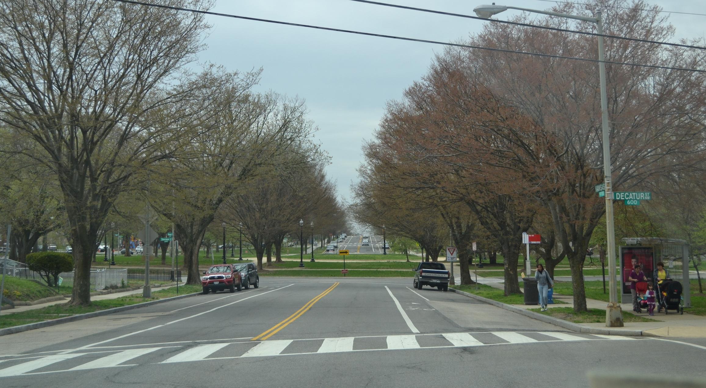 Looking south toward Sherman Circle