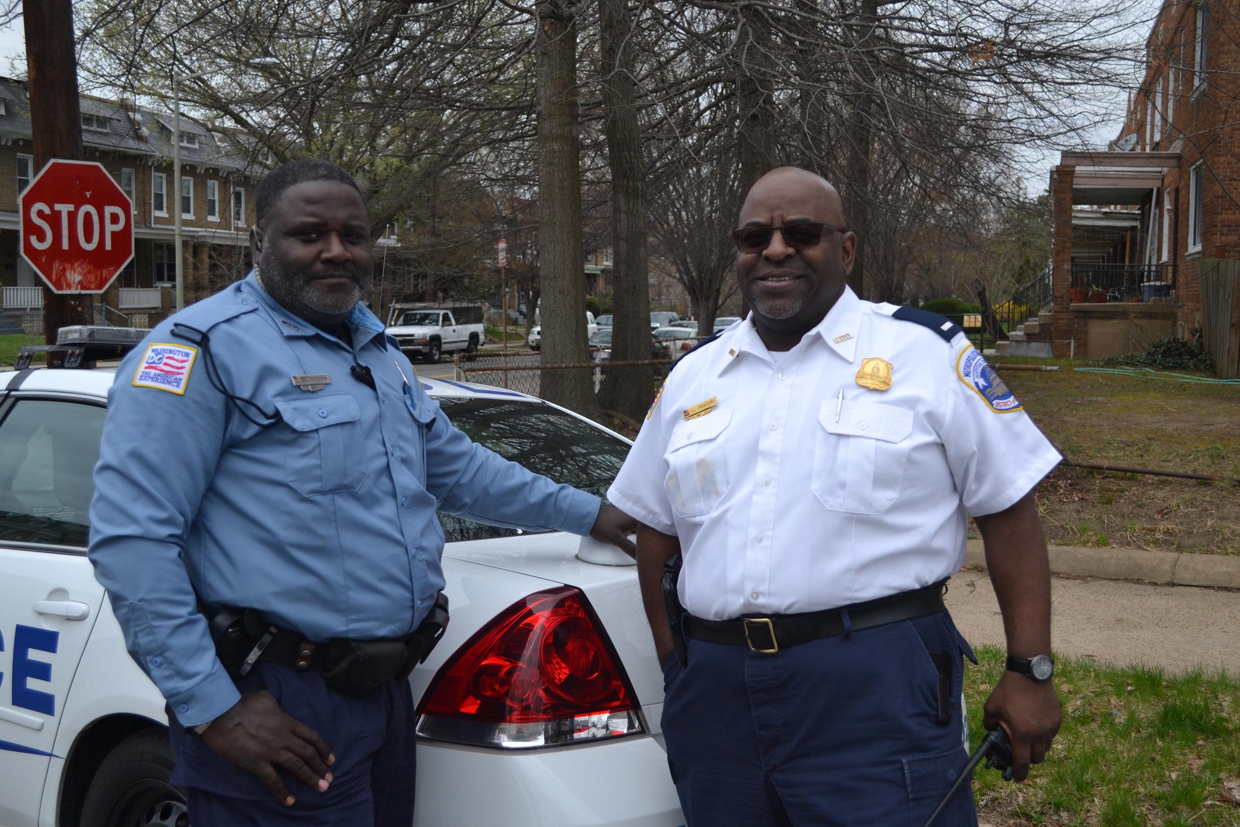 Officer Clinton Brown and Lieutenant Van Crawford