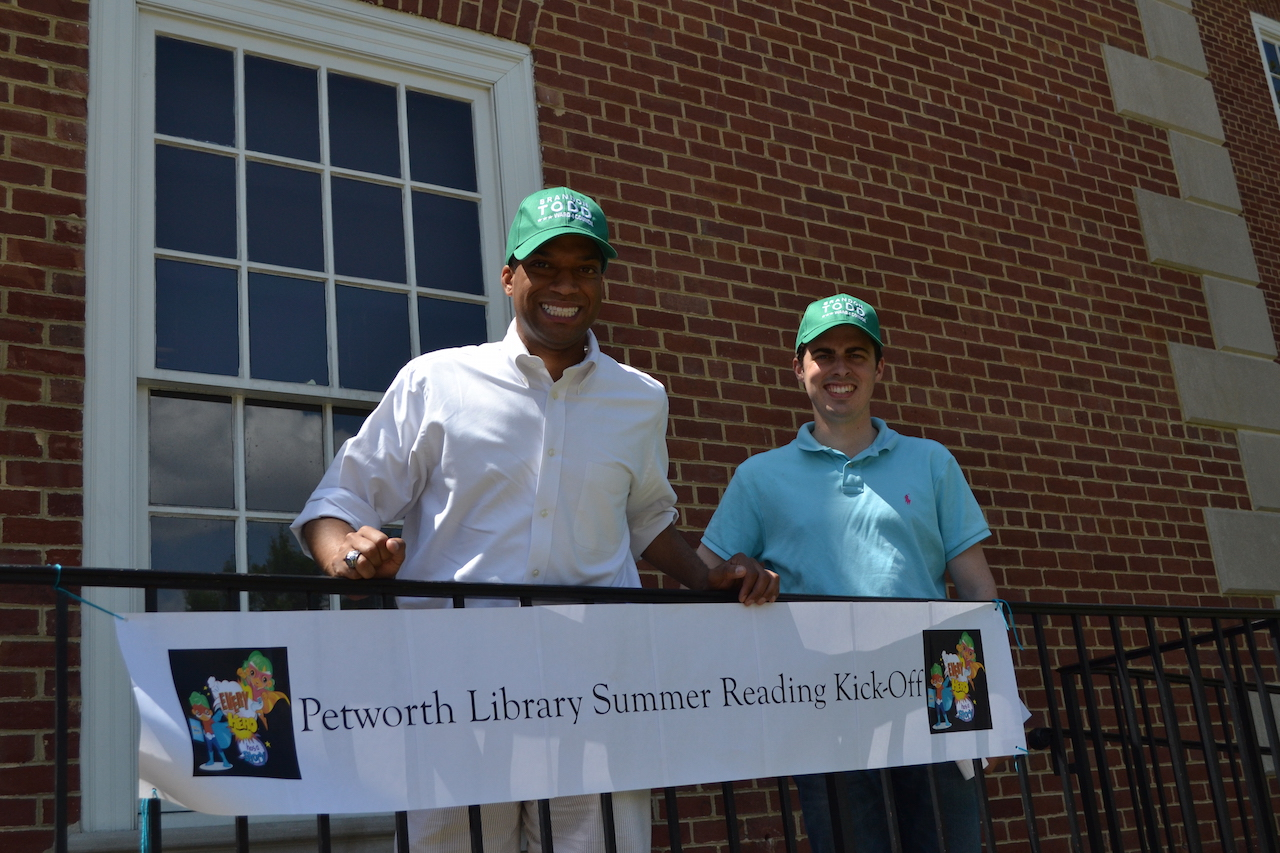 Councilmember Brandon Todd and his Director of Constituent Services Jackson Carnes attended the Kick-Off.