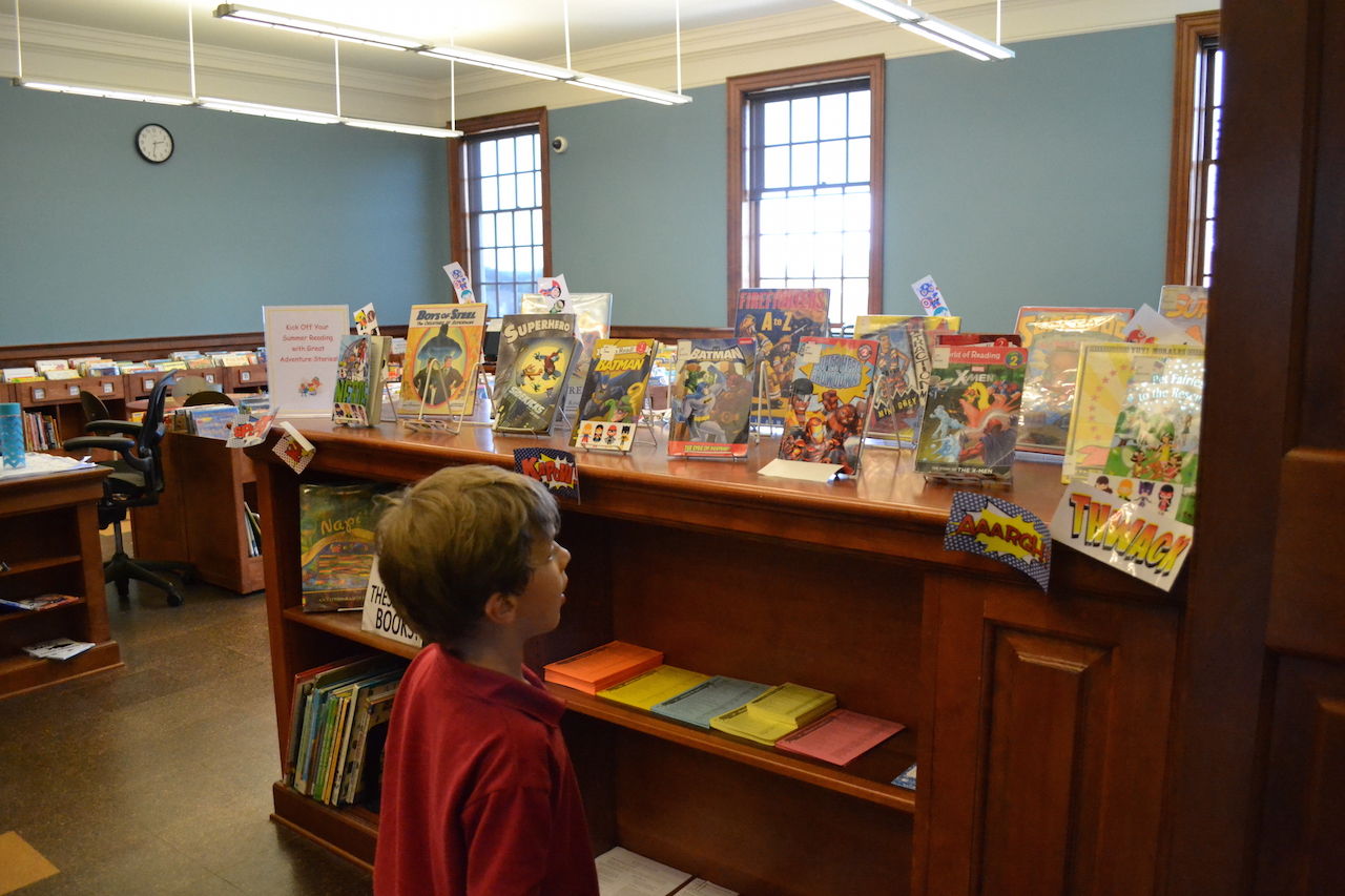 Both the little one and me were excited for the graphic novels and stories.