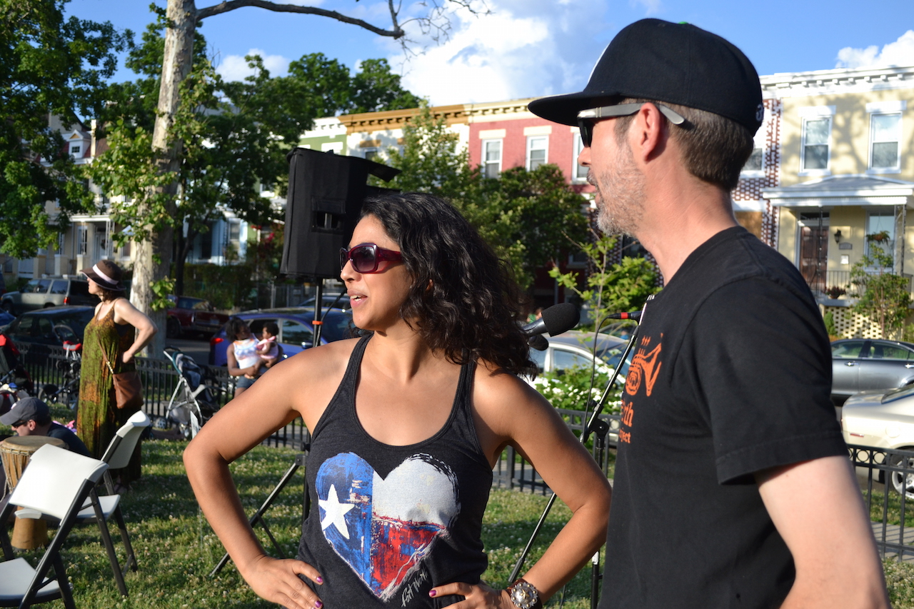 Sara Herrera Kopetchney  from Petworth Dance Project and  Tom Pipkin  of Petworth Jazz Project.