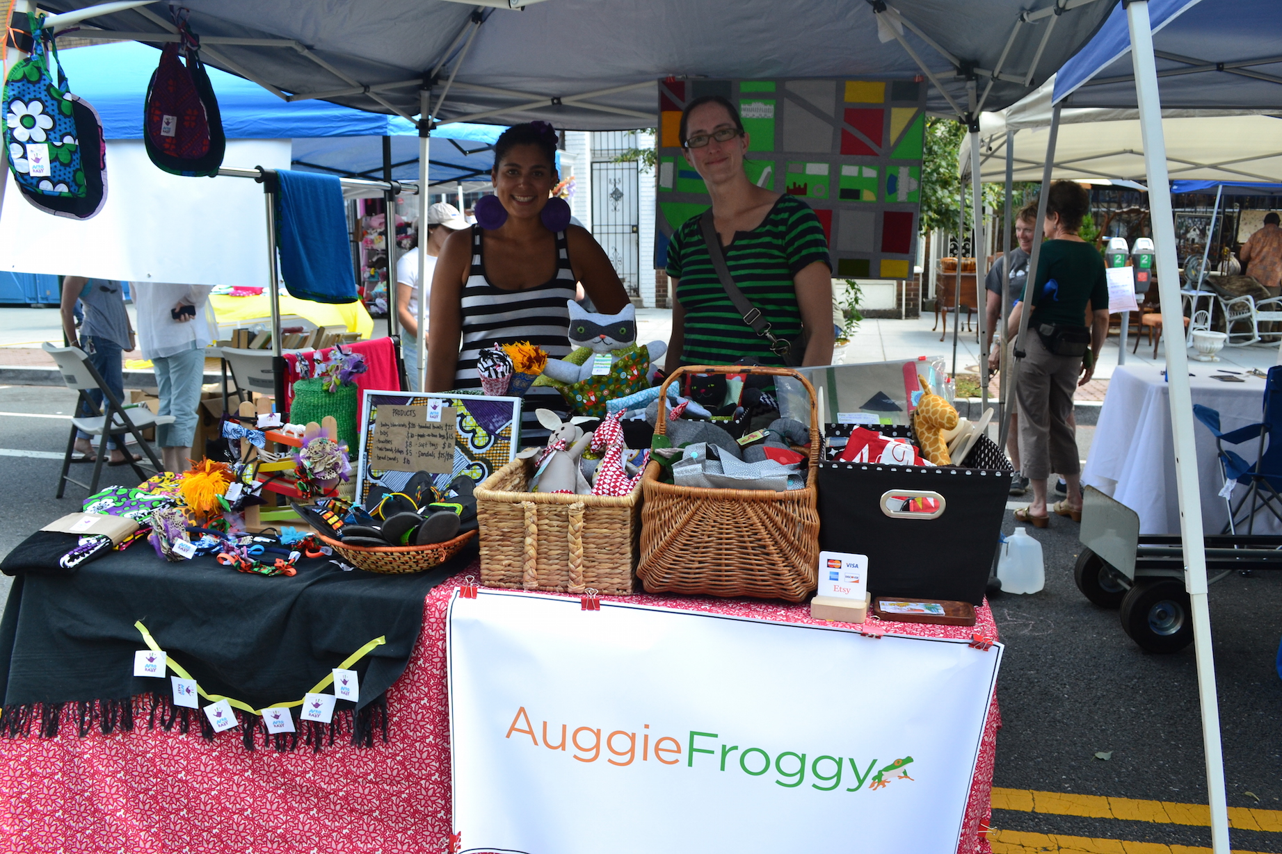 Saida Rehani fromAfro Baby and Kathleen Gough from Auggie Froggie.
