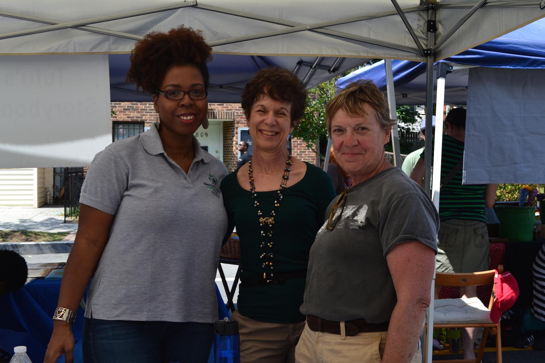 Shakira Gantt, Karen Feinstein and Carol Herwig from Georgia Avenue Family Support Collaborative.