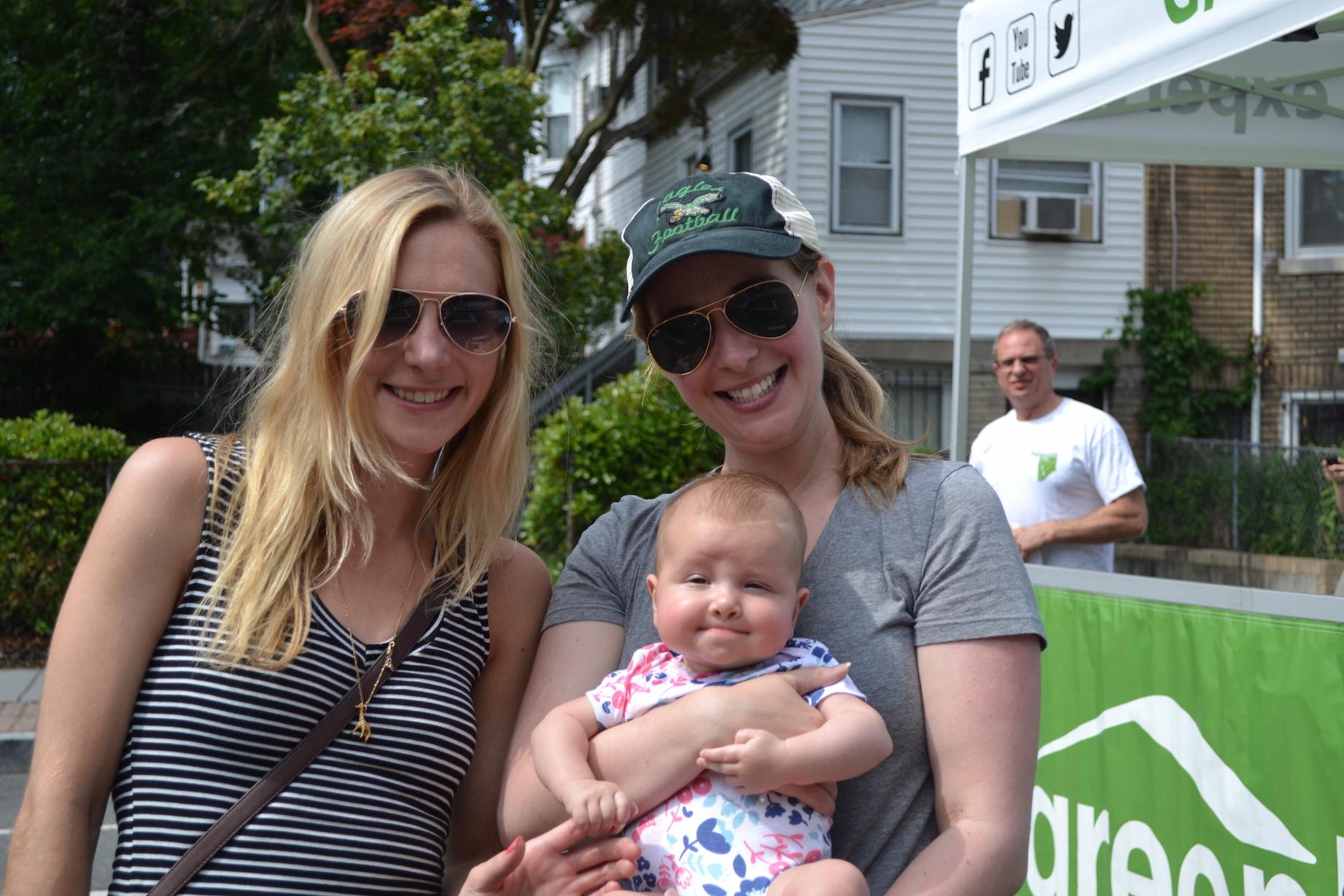 Britt Shillingsburg, Ashley Alderfer and cute little Charlotte.