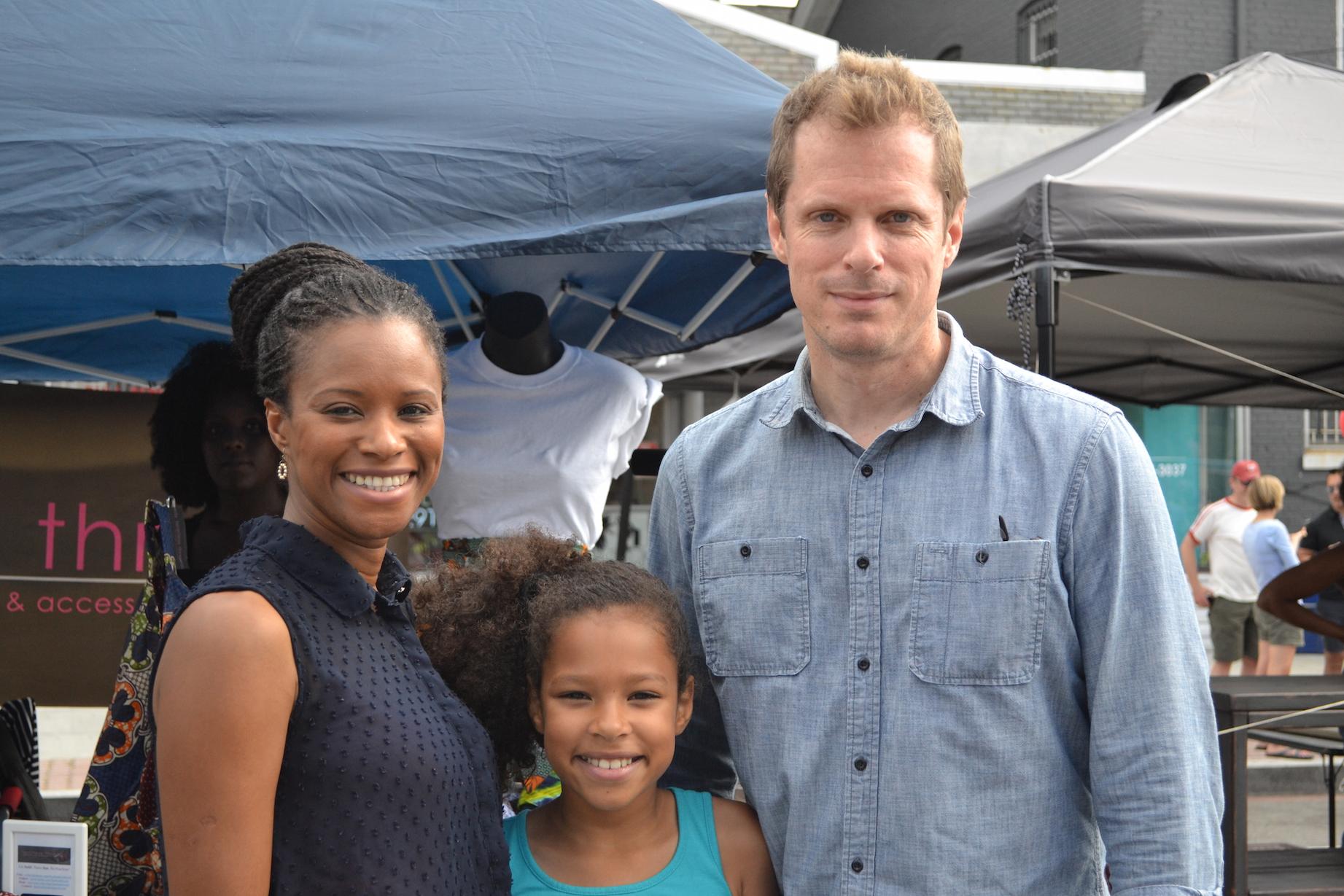Mariama Diallo, Bill Crandalland their daughter, Sofia