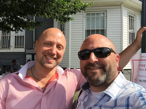 Fritz Hubig poses for a selfie with Drew