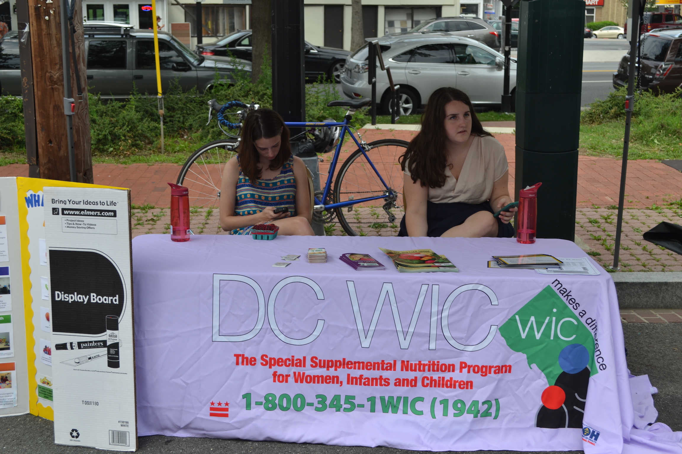 WIC info table (the Market can double the value of most vouchers... stop by for info).
