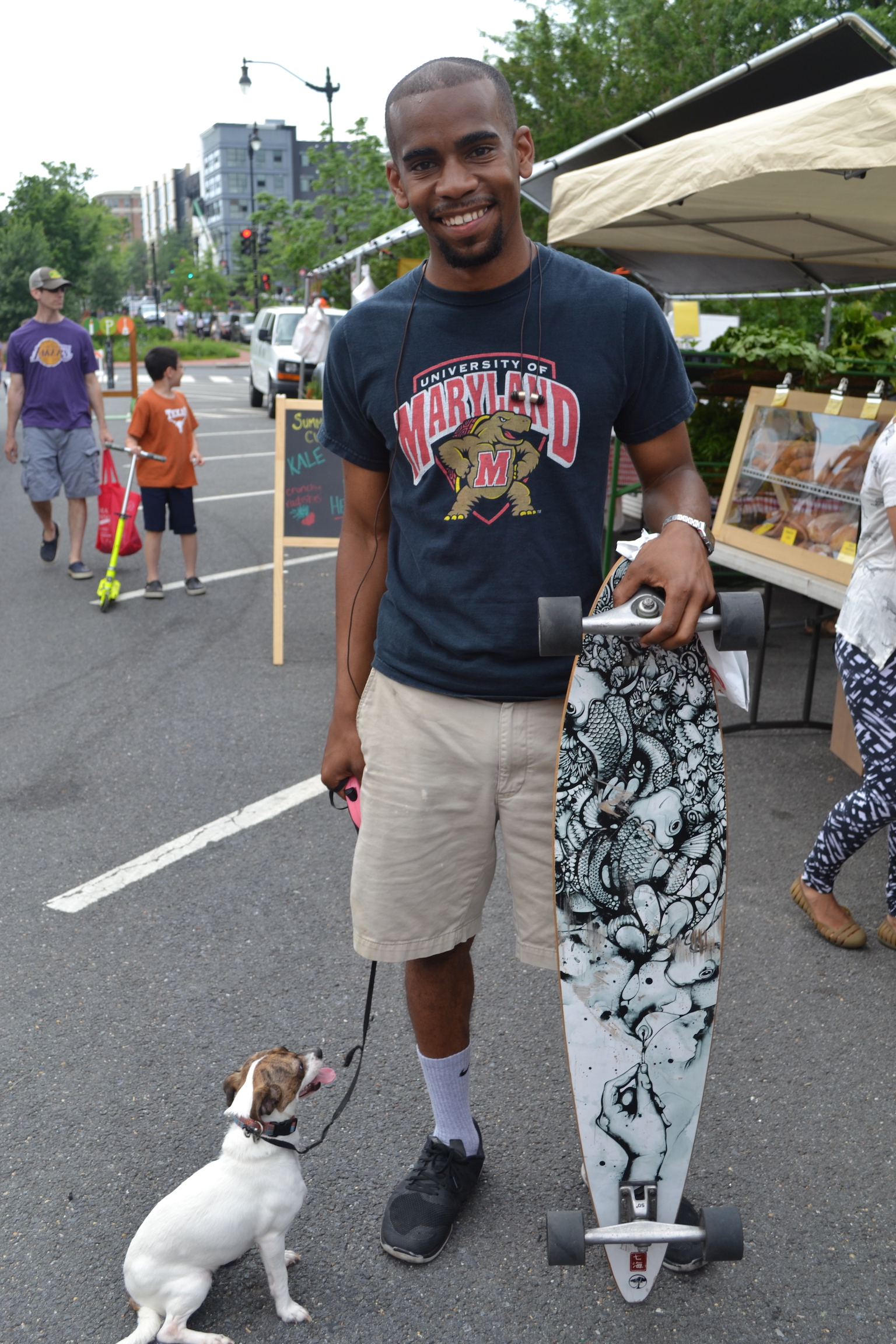 Chris Jones and Queen, checking out the Market.