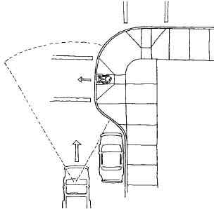 Curb extension example.