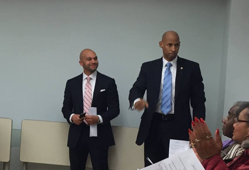 Robert White and Michael Aniton (picture from  April 8th ANC 4C meeting )