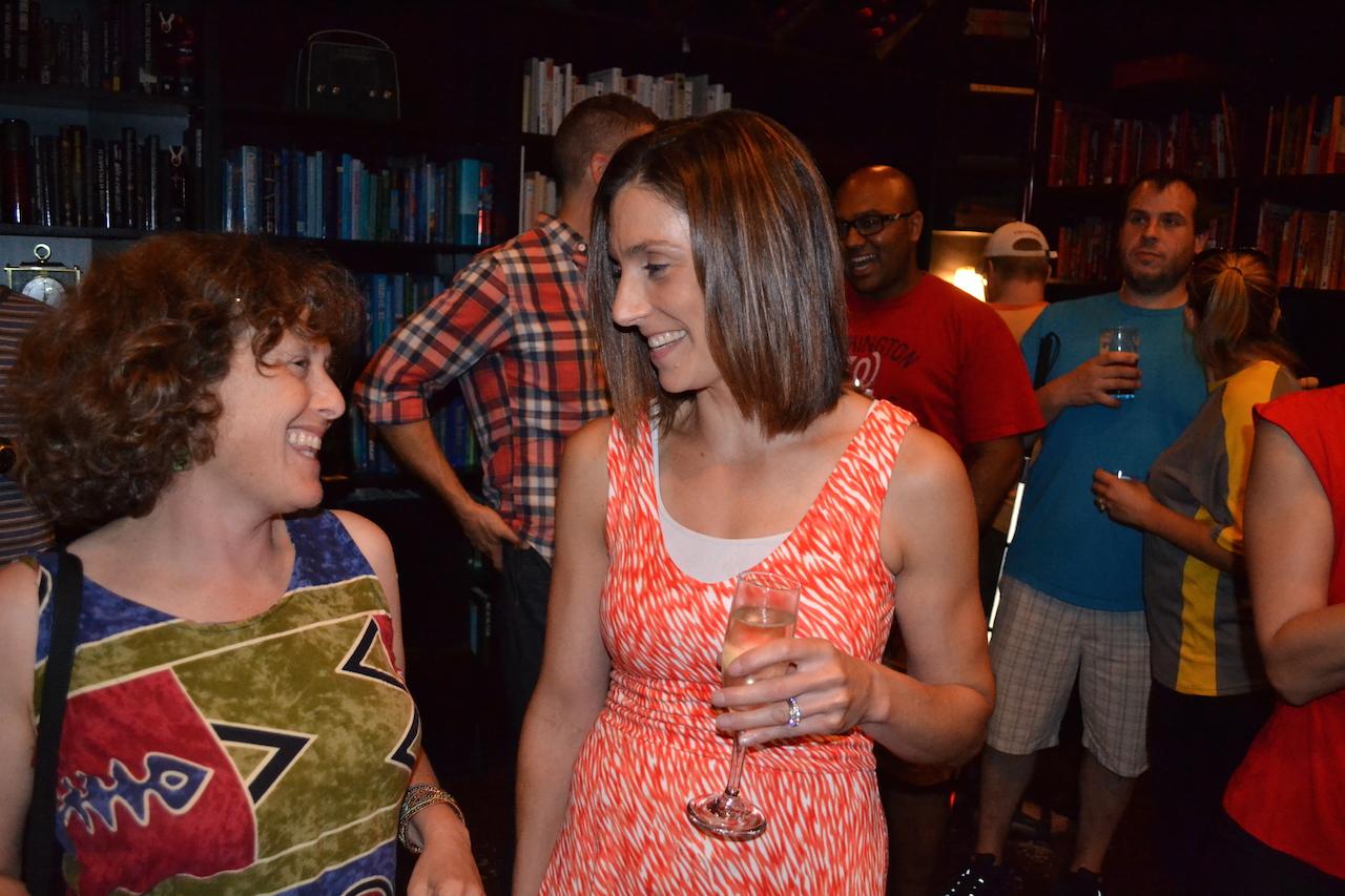 Julie Eisenberg and my much better half Heather Schneider