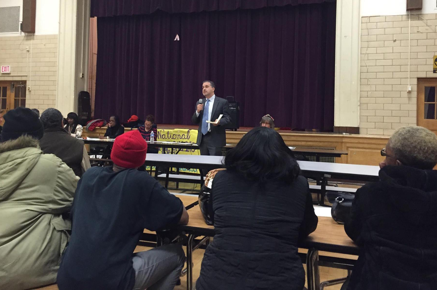 ANC Commissioner David Sheon presenting at the January 2015 ANC 4D meeting.