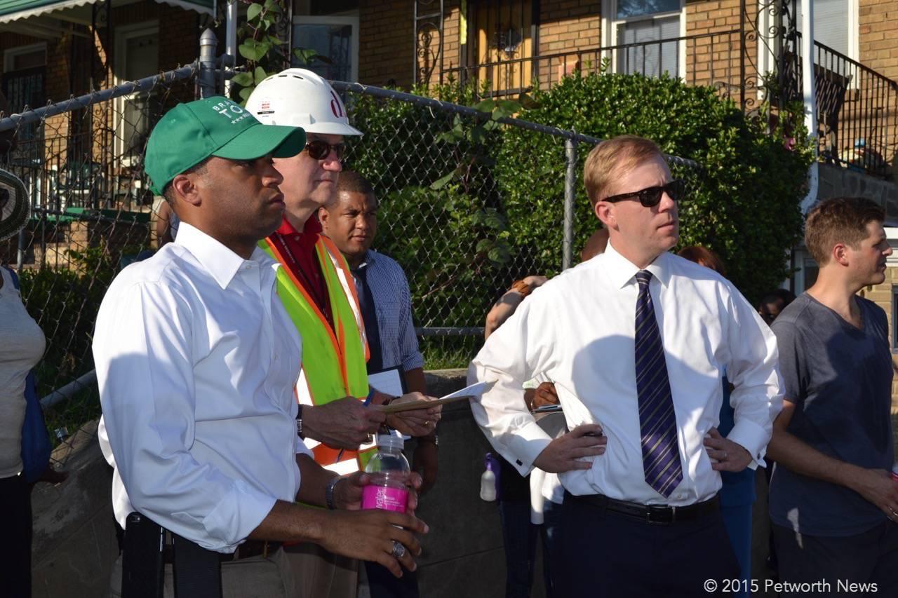 Ward 4 Councilmember Brandon Todd, Paul Hoffman and DDOT Director Leif Dormjso