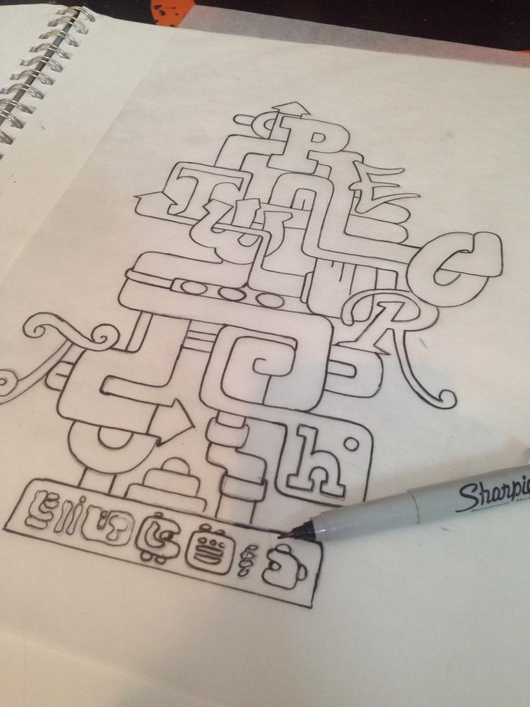 Early concept design. Courtesy  Juan Pineda .