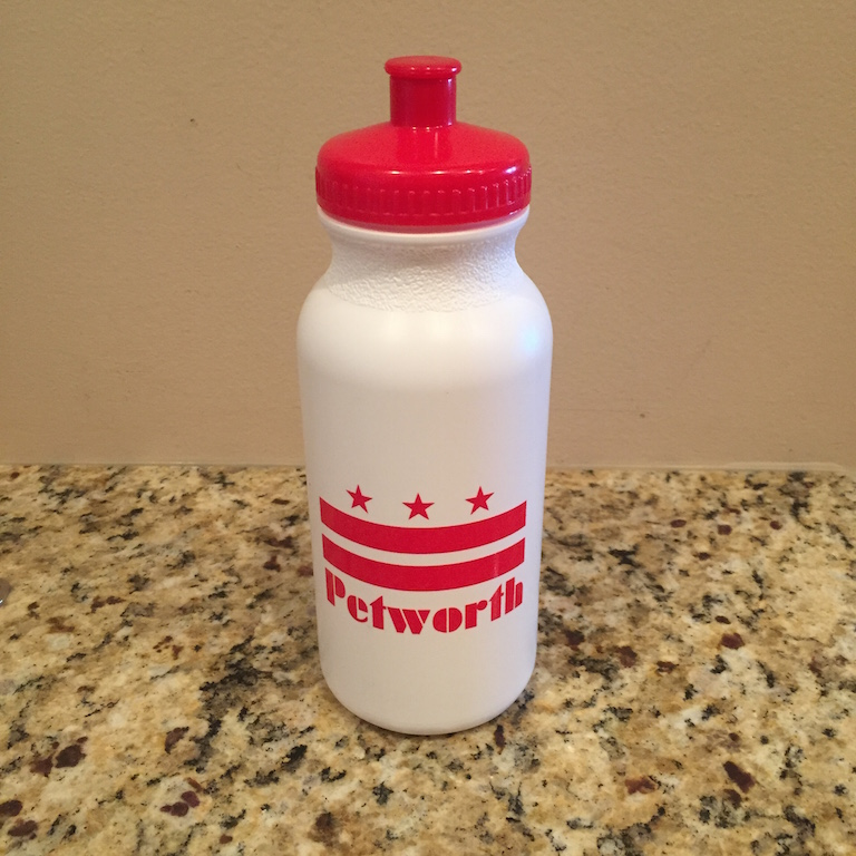 Petworth water bottle, courtesy of Northwest Community Church.