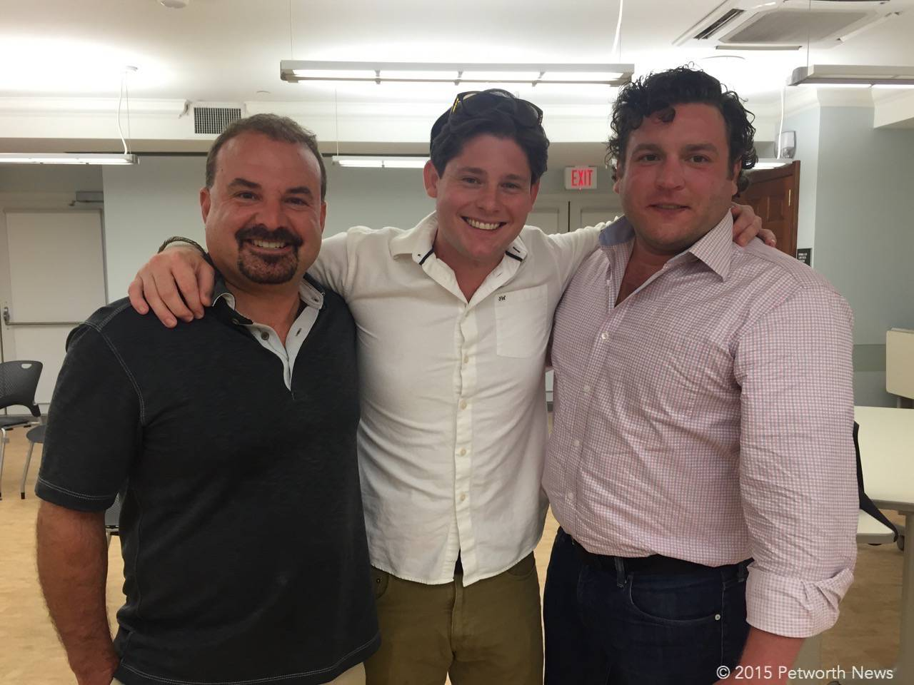 Marc Dosik, Alex McCoy and Hunter Campbell, the owners of the new restaurant